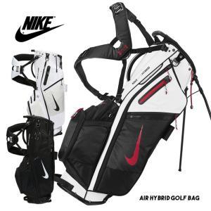ナイキ ゴルフバッグ メンズ NIKE GOLF AIR HYBRID GB スポーツ キャディバッグ スタンド付き 14分割 ツーショルダー|sansei-s-style