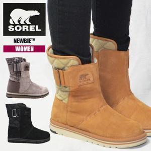 ソレル ブーツ レディース 撥水加工 SOREL NEWBIE NL2068 ニュービー ファー もこもこ 防寒 防滑 スノーブーツ 軽量 ムートンブーツ 雪 靴|sansei-s-style
