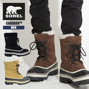 ソレル ブーツ メンズ 防水 あったか 防滑 男性 紳士 SOREL CARIBOU NM1000 防寒 スノーブーツ 雪 ブーツ 靴 ウィンターブーツ|sansei-s-style