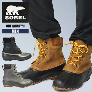 【処分特価】ソレル あったか 防滑 メンズ 男性 紳士 SOREL CHEYANNE II NM2575 防寒 防水 スノーブーツ 軽量 雪 ブーツ 靴 ウィンターブーツ|sansei-s-style