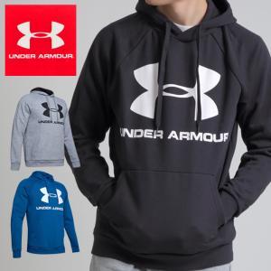 UNDER ARMOUR アンダーアーマー RIVAL FLEECE SPORTSTYLE LOGO HOODIE 1345628 メンズ スウェット スポーツスタイル フーディー ロゴ パーカー フリース|sansei-s-style