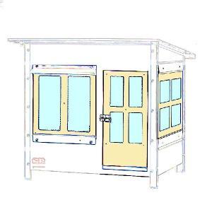 800型アクリル板窓の一式 4点セット|sansei