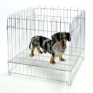 小型犬用 ステンレスサークル 610|sansei