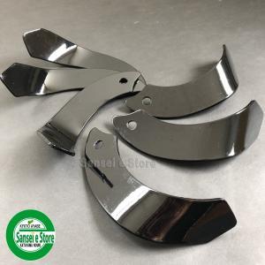 ヤンマー 管理機 の耕うん爪 14本組セットです。 東亜重工製のナタ爪です。 適用型式、ロータリー形...