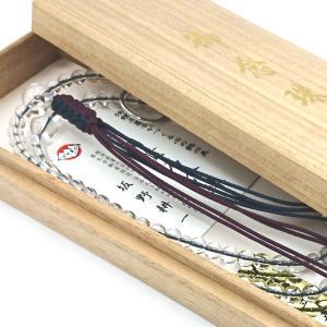 【 数珠 】 曹洞宗 男性用 尺二寸 天然水晶共仕立て 桐箱入|sanshido-honten