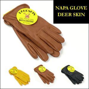 NAPA GLOVE ナパグローブ レザー手袋 DEERSKIN LEATHER GLOVE ディアスキンレーサーグローブ 鹿革 裏地ナシ NAP001 sanshin