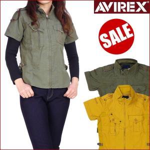 AVIREX アビレックス レディース アンダーテーピングシャツ 半袖ジップシャツ 6245011 送料無料|sanshin