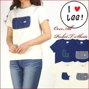 Lee リー Lady's オーバーオール ポケットTシャツ LS7141 送料無料|sanshin
