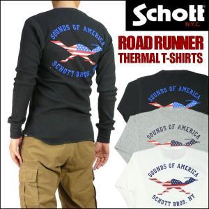 Schott ショット サーマル 長袖Tシャツ ROAD RUNNER 3153064|sanshin