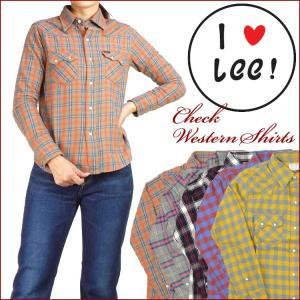 Lee リー レディース チェックウエスタンシャツ ネルシャツ LT0957 セール|sanshin