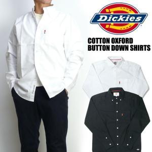 Dickies ディッキーズ メンズ シャツ コットンオックス ボタンダウンシャツ 長袖シャツ 送料無料 173M20WD16|sanshin