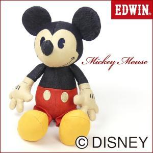 EDWIN Disney デニム ミッキーマウス ぬいぐるみ QNAK10|sanshin