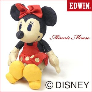 EDWIN Disney デニム ミニーマウス ぬいぐるみ QNAK10|sanshin