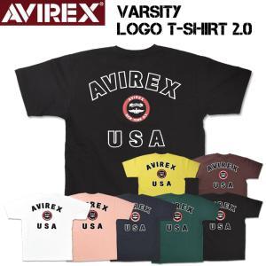 AVIREX アビレックス シグネチャー バーシティー半袖Tシャツ ロゴ ミリタリーTシャツ メンズ 6163363|sanshin