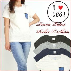 Lee リー Lady's デニムポケットTシャツ LS7195 セール|sanshin
