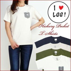 Lee リー Lady's ヒッコリー ポケットTシャツ LS7214|sanshin