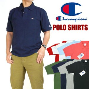 Champion チャンピオン メンズ ポロシャツ ワンポイント 半袖ポロシャツ C3-F356|sanshin