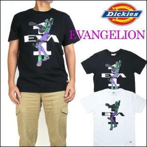 Dickies ディッキーズ X EVANGELION エヴァンゲリオン 半袖Tシャツ エヴァンゲリオン 初号機プリント 163M30EG03 mth-ts