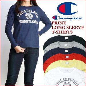 Champion Lady's チャンピオン プリント ロングスリーブTシャツ 長袖Tシャツ CW-J402 ltl-ts|sanshin