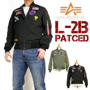 ALPHA アルファ メンズ ジャケット L-2B PATCHED ワッペン MA-1 LIGHT 春物 ミリタリージャケット TA1305|sanshin