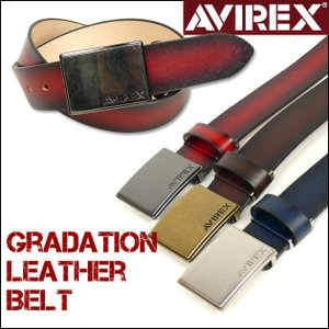 AVIREX アビレックス ベルト メンズ グラデーションレザーベルト AX3006 長さ調節可|sanshin
