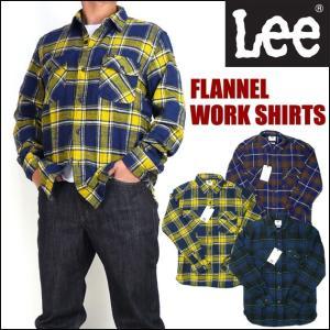 Lee リー メンズ シャツ チェックネルシャツ ワークシャツ LT0596-3xx セール|sanshin