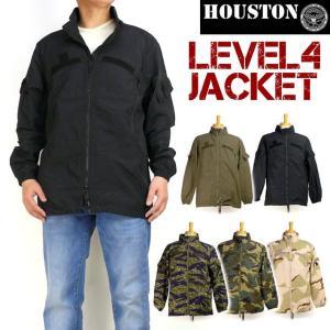 HOUSTON ヒューストン メンズ ミリタリージャケット LEVEL4 JACKET ナイロン ウ...