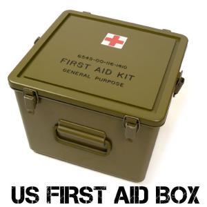 US メディカル プラスティック ボックス FIRST AID BOX ファーストエイドボックス 米軍放出 デッドストック 救急箱 ミリタリーボックス UD-1ST|sanshin
