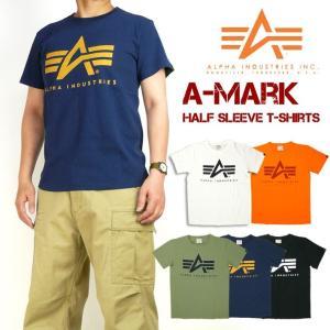 セール ALPHA アルファ メンズ Tシャツ 半袖ミリタリーTシャツ A-MARK TC1255|sanshin