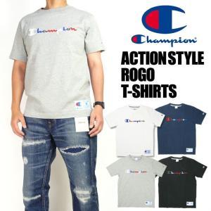 Champion チャンピオン メンズ Tシャツ マルチカラーロゴ刺繍 半袖Tシャツ アクションスタイル C3-H371|sanshin