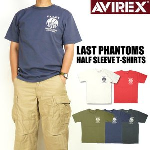 セール AVIREX アビレックス メンズ Tシャツ 半袖クルーネックTシャツ LAST PHANTOMS ミリタリーTシャツ 6183436|sanshin