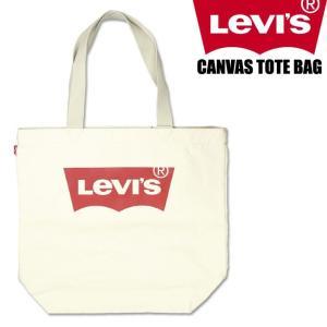 LEVI'S リーバイス ロゴプリント トートバッグ メンズ レディース CANVAS TOTE BAG バットウイング 38126|sanshin