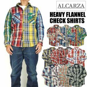 ALCARZA アルカルザ メンズ ネルシャツ ヘビーフランネル チェックシャツ 68-900 68-901|sanshin