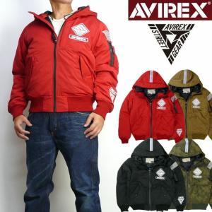 AVIREX アビレックス メンズ MA-1 WARM LINED HOODIE STREET GEAR FIELD フライトジャケット ミリタリー 6182183 セール|sanshin