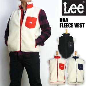 Lee リー メンズ ボアフリース ベスト BOA FLEECE VEST Lee OUTER WEAR LT5028 セール|sanshin