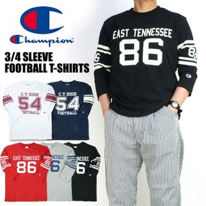 Champion チャンピオン 7分袖 フットボールTシャツ メンズ C3-P414|sanshin