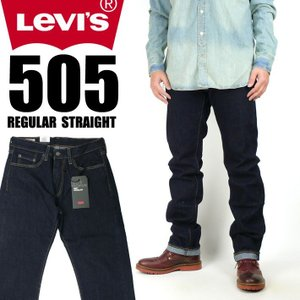 LEVI'S リーバイス 505 レギュラーストレート LEVI'S PREMIUM BIG E ストレッチデニム ワンウォッシュ 00505-1554|sanshin