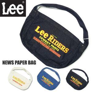 Lee リー ニュースペーパーバッグ デニム ショルダーバッグ トートバッグ メンズ レディース ユニセックス LA0301|sanshin