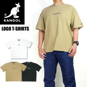 KANGOL カンゴール 半袖Tシャツ ワンポイント ロゴ刺繍 Tシャツ  メンズ レディース ユニセックス 9273-0008A|sanshin