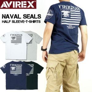 AVIREX アビレックス メンズ Tシャツ 半袖Tシャツ NAVAL SEALS ミリタリー 6193406|sanshin