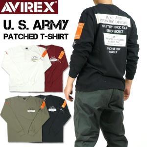 AVIREX アビレックス 長袖Tシャツ メンズ ウォーヴァン パッチド クルーネックTシャツ US...