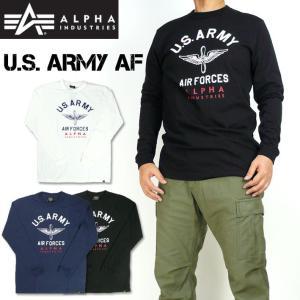 """ミリタリーブランド""""ALPHA""""のTシャツ。  アメリカ空軍(USAF)の前身、アメリカ陸軍航空隊(..."""