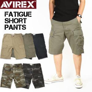 AVIREX アビレックス ファティーグ カーゴショートパンツ 6166118 6166119 送料無料 mp-sp|sanshin