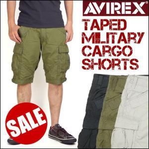 50%OFFセール AVIREX アビレックス テープド ミリタリーカーゴショート ショートパンツ 6146048 送料無料|sanshin