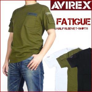 AVIREX アビレックス メンズ Tシャツ ファティーグTシャツ 半袖ミリタリーTシャツ 6123036 送料無料|sanshin