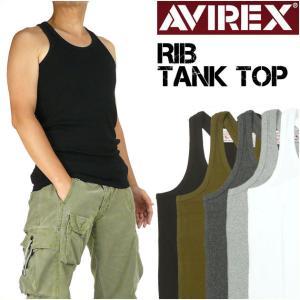 AVIREX アビレックス リブ タンクトップ デイリーウエア メンズ 618363 6143503|sanshin