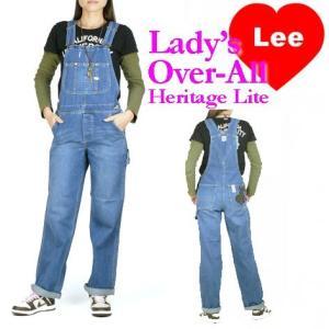 Lee リー レディース オーバーオール サロペット やや薄めのユーズドブルー LL0255 Heritage Lite 送料無料 lp-ls プレゼント ギフト|sanshin