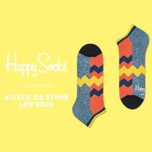 happy socks ハッピーソックス メンズ レディース 靴下 ソックス Athletic Zig Stripe Low Sock 2018 春 春夏