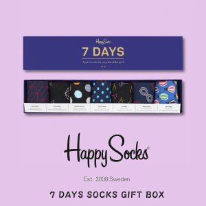 happy socks ハッピーソックス メンズ レディース 靴下 ソックス 7 DAYS SOCKS GIFT BOX 2018 春 春夏