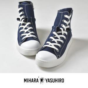 MIHARAYASUHIRO ミハラヤスヒロ ツイストスニーカー ハイカット キャンバス メンズ 国産 日本製 2017 秋|sansuiya